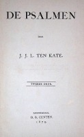 Psalmen-Ten-Kate-1879-Titel