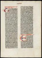 Gutenberg Bible Fragment