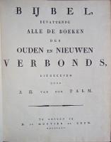 Bijbel Johannes Henricus Van der Palm