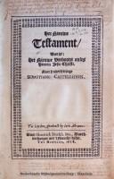 Nieuwe Testament uit 1618